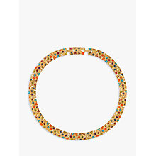 Buy Susan Caplan Vintage 1970s D'Orlan 22ct Gold Plated Faux Pearl and Swarovski Crystal Collar Necklace, Multi Online at johnlewis.com