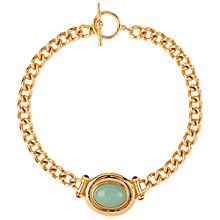 Buy Susan Caplan Vintage 1990s Elizabeth Taylor Gold Plated Cabochon Element Collar Necklace, Gold/Celadon Online at johnlewis.com