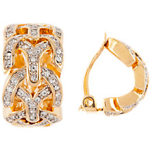Buy Susan Caplan Vintage D'Orlan 22ct Gold Plated Swarovski Crystal Demi Hoop Earrings, Gold Online at johnlewis.com
