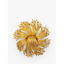 Buy Susan Caplan Vintage Monet Gold Plated Starburst Brooch, Gold Online at johnlewis.com