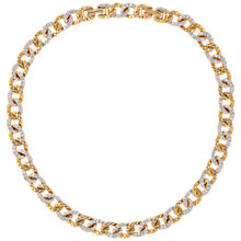 Buy Susan Caplan Vintage 1980s D'Orlan 22ct Gold Plated Swarovski Crystal Necklace, Gold/Clear Online at johnlewis.com