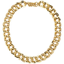 Buy Susan Caplan Vintage 1980s Monet Gold Plated Double Link Necklace, Gold Online at johnlewis.com