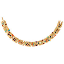 Buy Susan Caplan Vintage 1980s D'Orlan 22ct Gold Plated Swarovski Crystal Bracelet, Gold Online at johnlewis.com