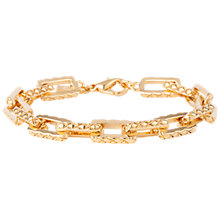Buy Susan Caplan Vintage 1980s D'Orlan 22ct Gold Plated Rectangular Link Bracelet, Gold Online at johnlewis.com