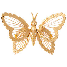 Buy Susan Caplan Vintage Monet Gold Plated Butterfly Brooch, Gold Online at johnlewis.com