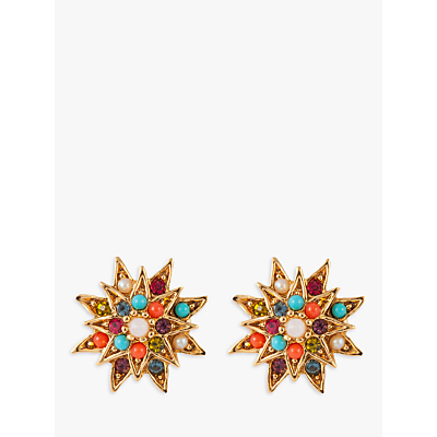 Vintage Style Jewelry, Retro Jewelry Susan Caplan Vintage 1980s DOrlan 22ct Gold Plated Swarovski Crystal Clip-On Star Earrings GoldMulti £125.00 AT vintagedancer.com