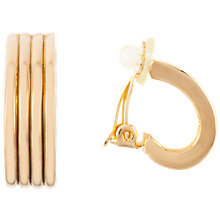 Buy Susan Caplan Vintage 1980s Nina Ricci 22ct Gold Plated Textured Hoop Clip-On Earrings, Gold Online at johnlewis.com