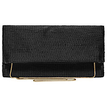 Buy Reiss Nella Long Bead Fold Over Clutch, Black Online at johnlewis.com
