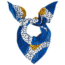 Buy L.K. Bennett Priscilla Large Spot Scarf, Blue Online at johnlewis.com