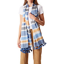Buy Hobbs Laurie Scarf, Navy/Ivory Online at johnlewis.com