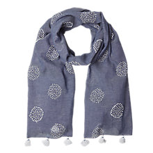 Buy White Stuff Misty Spot Scarf, Blue Online at johnlewis.com