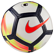 Buy Nike Premier League Skills Football, Size 1, White/Red Online at johnlewis.com