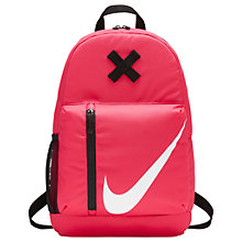 Buy Nike Elemental Children's Backpack, Pink Online at johnlewis.com