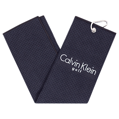 Calvin Klein Golf Tri Fold Waffle Towel, Navy Blue