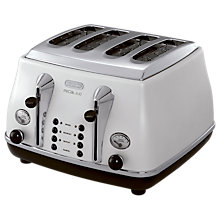 Buy De'Longhi Micalite 4-Slot Toaster, White Online at johnlewis.com