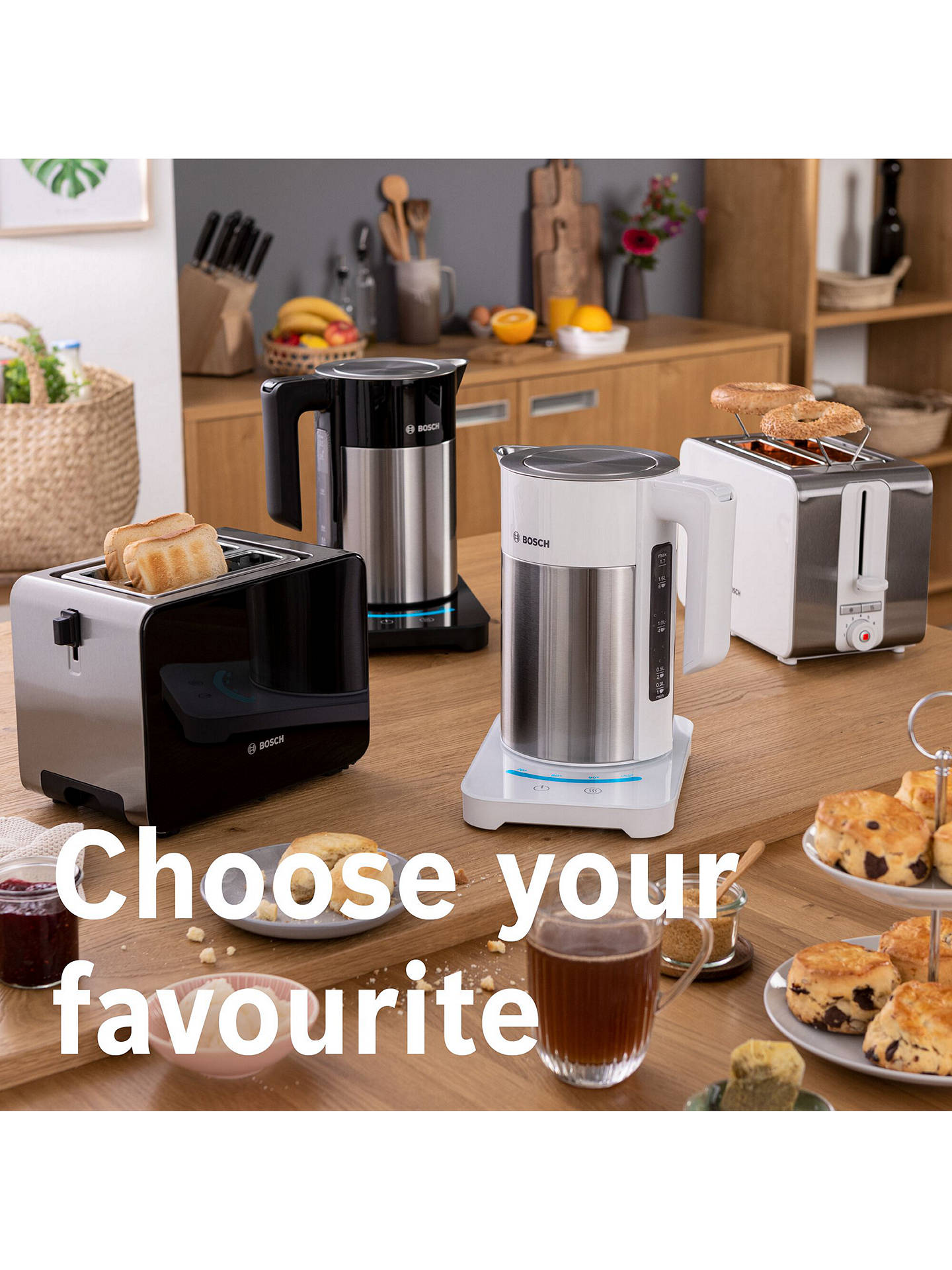 BuyBosch TWK7203GB Sky Kettle, Black/Silver Online at johnlewis.com