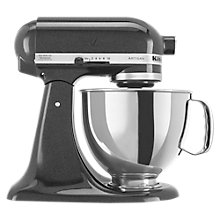 Buy KitchenAid 150 Artisan 4.8L Stand Mixer, Black Caviar Online at johnlewis.com