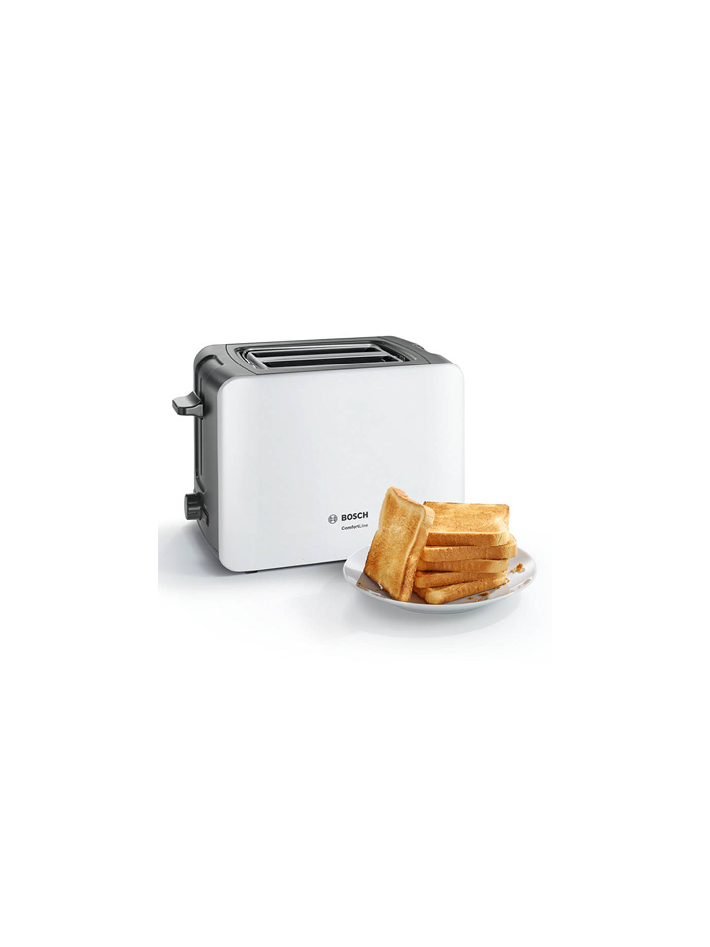 Buy Bosch ComfortLine Compact Toaster, White Online at johnlewis.com