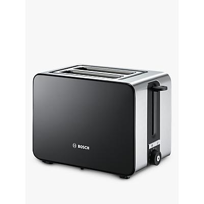 Bosch TAT7203GB Sky 2-Slice Toaster, Black/Silver