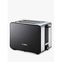 Buy Bosch TAT7203GB Sky 2-Slice Toaster, Black/Silver Online at johnlewis.com
