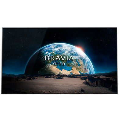 Image of Sony Bravia KD55A1 OLED HDR 4K Ultra HD Smart Android TV, 55 with Freeview HD, Youview, Acoustic Surface & One Slate Design, Black