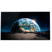 "Buy Sony Bravia 55A1BU OLED HDR 4K Ultra HD Smart Android TV, 55"" with Freeview HD, Youview, Acoustic Surface & One Slate Design, Black Online at johnlewis.com"