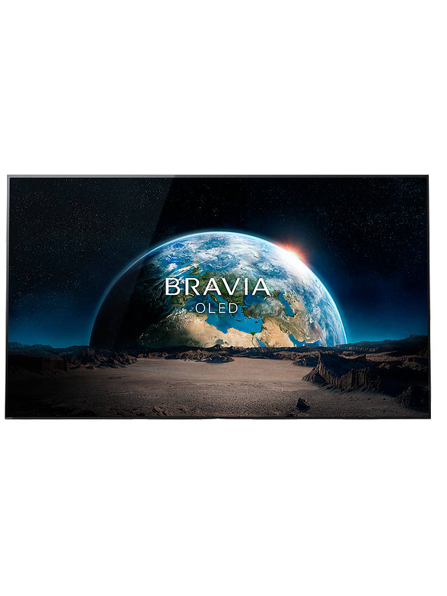 "Buy Sony Bravia KD55A1 OLED HDR 4K Ultra HD Smart Android TV, 55"" with Freeview HD, Youview, Acoustic Surface & One Slate Design, Black Online at johnlewis.com"