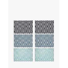 Buy John Lewis Diamond Print Placemat, Set of 6, Assorted Online at johnlewis.com