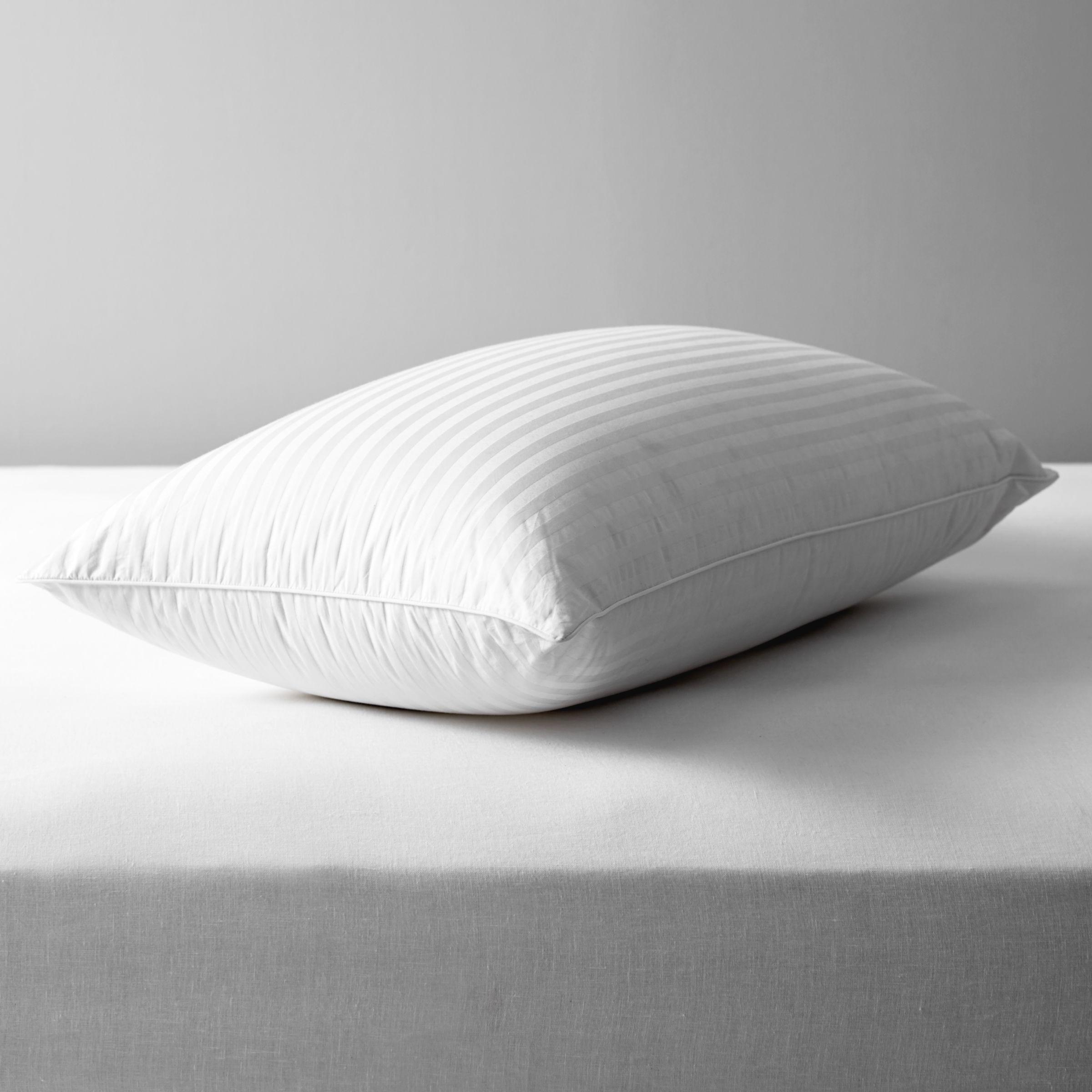 John Lewis & Partners Natural Collection Hungarian Goose Down Standard Pillow, Firm