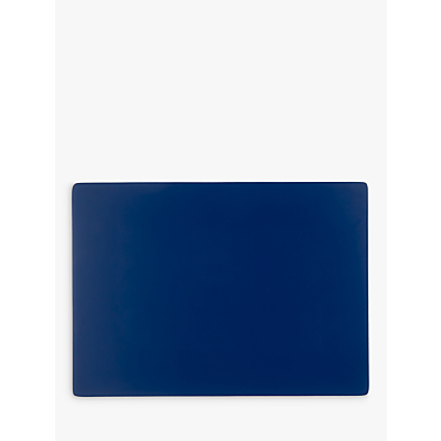 House by John Lewis Reversible Wood Placemats, Set of 2, Cobalt/Grey