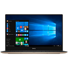 "Buy Dell XPS 13 Laptop, Intel Core i7, 8GB RAM, 256GB SSD, 13.3"" QHD Touch Screen, Rose Gold Online at johnlewis.com"