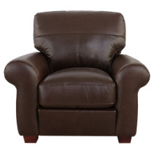 Buy John Lewis Hampstead Leather Armchair, Dark Leg, Primo Chestnut Online at johnlewis.com
