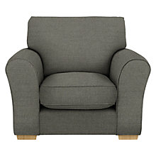 Buy John Lewis Leon Armchair, Light Leg, Camber Steel Online at johnlewis.com