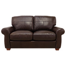 Buy John Lewis Hampstead Medium 2 Seater Leather Sofa, Dark Leg, Primo Chestnut Online at johnlewis.com