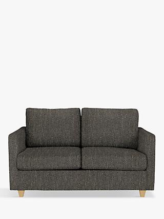 John Lewis & Partners Barlow Small 2 Seater Sofa Bed with Pocket Sprung Mattress, Light Leg, Ffion Charcoal