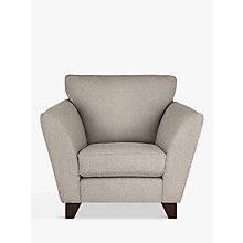 Buy John Lewis Oslo Armchair, Dark Leg, Dash Charcoal Online at johnlewis.com