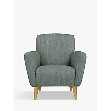 Buy John Lewis Albie Armchair, Light Leg, Ffion Teal Online at johnlewis.com