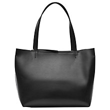 Buy Reiss Broadway Leather Shopper Bag, Black Online at johnlewis.com