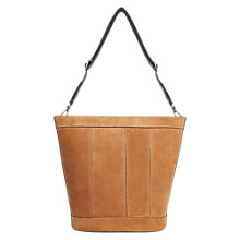 Buy Gerard Darel Le Perso Leather Bucket Bag, Camel Online at johnlewis.com