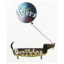Buy Mint Sausage Dog Birthday Card Online at johnlewis.com