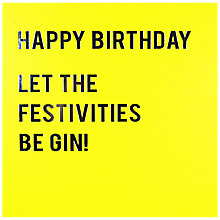 Buy Redback Cards Let The Celebrations Be-Gin  Birthday Card Online at johnlewis.com