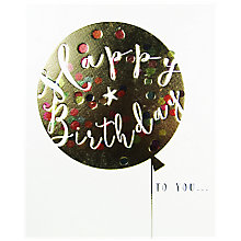 Buy Mint Balloon Birthday Card Online at johnlewis.com