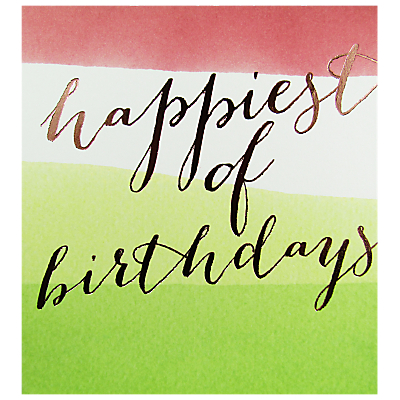 Caroline Gardner Happiest of Birthdays Card