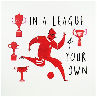 Woodmansterne Football Trophy Birthday Card