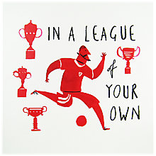 Buy Woodmansterne Football Trophy Birthday Card Online at johnlewis.com