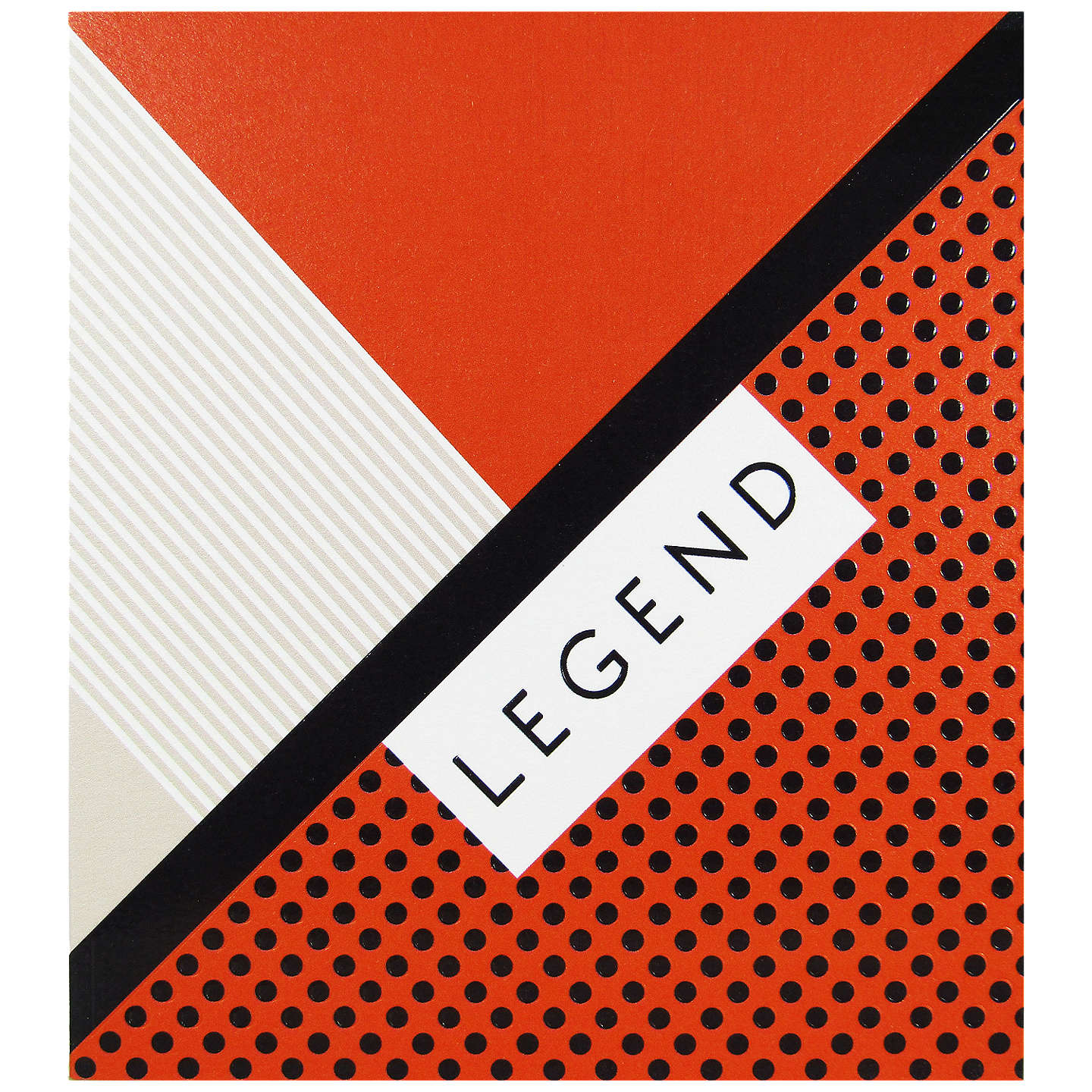 Woodmansterne Legend With Geo Red Print Greeting Card At John Lewis