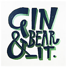 Buy Urban Graphic Gin & Bear It Greeting Card Online at johnlewis.com