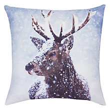 Buy John Lewis Stag Cushion, Multi Online at johnlewis.com