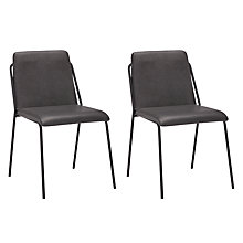 Buy John Lewis Rimini Dining Chairs, Set of 2, Dark Grey Online at johnlewis.com