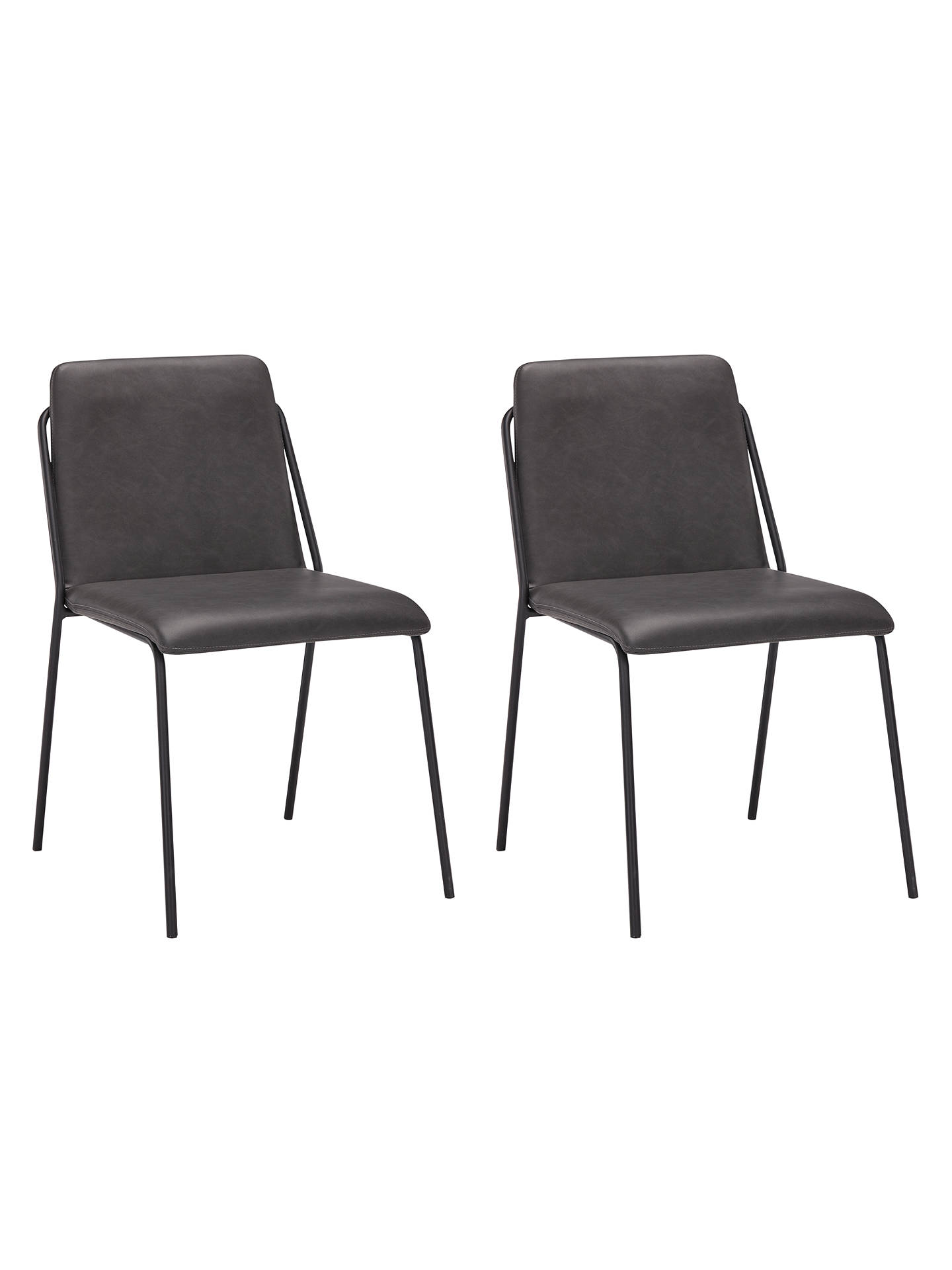 John Lewis Amp Partners Rimini Dining Chairs Set Of 2 Dark